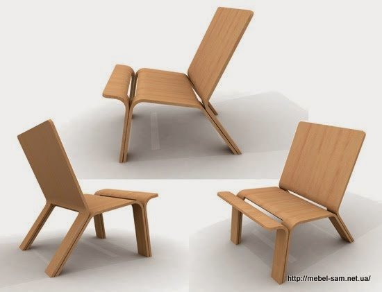 Один из вариантов идеи фанерного кресла