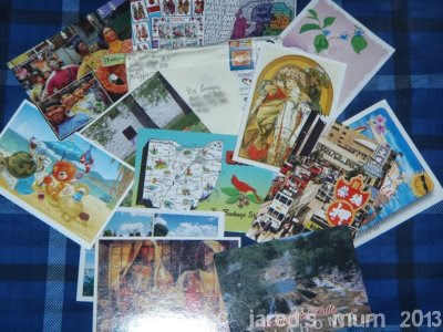 postcards, postcrossing
