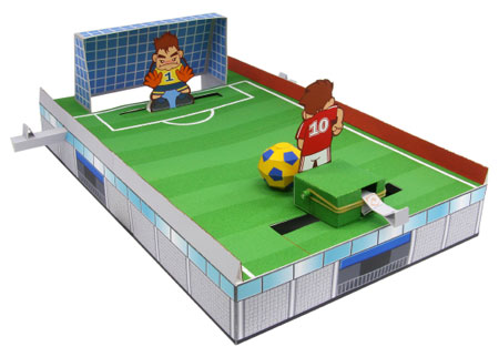 Soccer Penalty Kick Papercraft