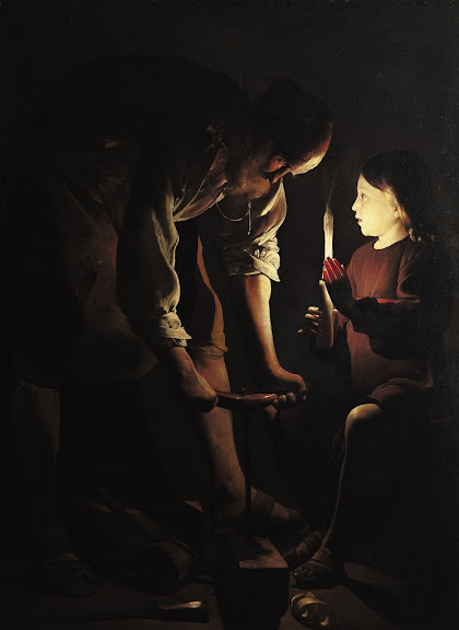 Georges de La Tour - St. Joseph, the Carpenter.