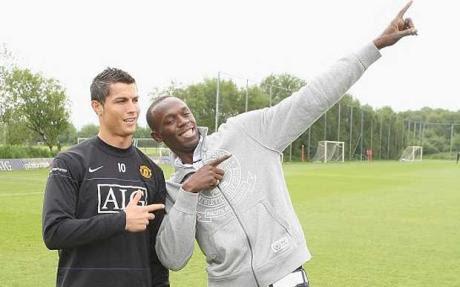 Cristiano Ronaldo es mejor que Messi según Usain Bolt