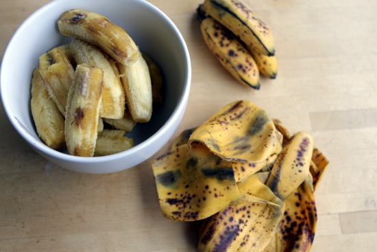 As bananas ripen their starch is converted to sugar. If it looks too speckled and brown to eat out of hand it is perfect for banana bread.