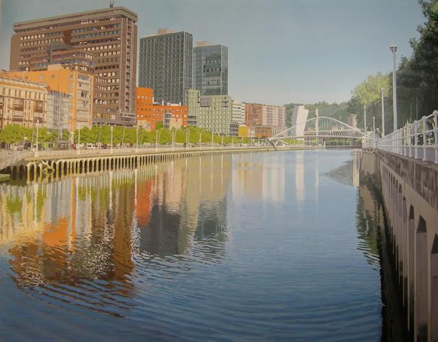pintura reflejos en la ria de Francisco Motto