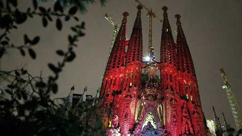 La Sagrada Familia, foto nocturna