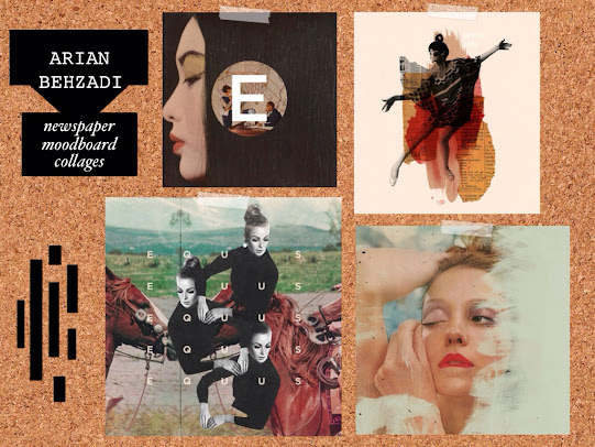 Arian Behzadi newspaper moodboard collages