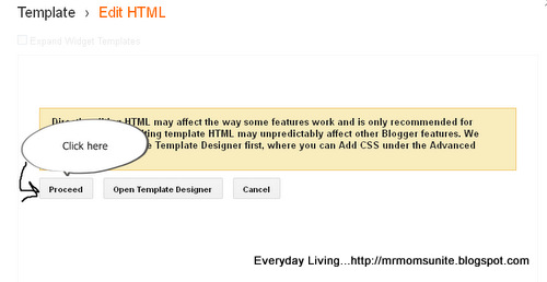 second photo of getting into Blogger template