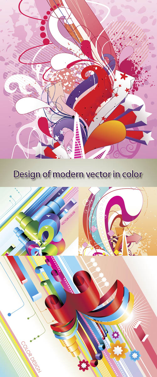 Stock: Design of modern vector in color