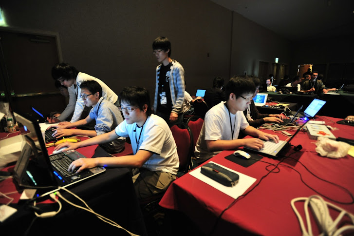 A group of computer users