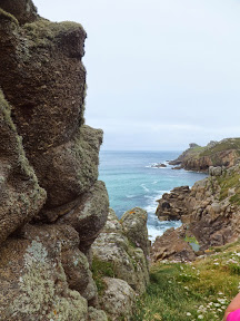 Looking back to Trevilley Cliff