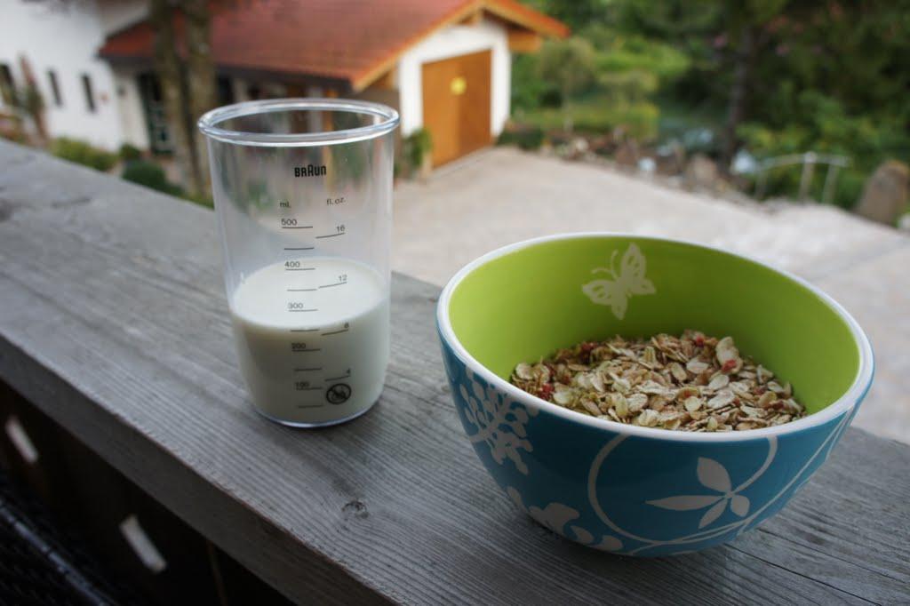 Müsli und Milch sind eine perfekte Kombination