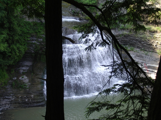 bottom of the falls