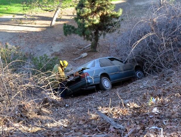 Car Plunges Off Elysian Park Hillside The Eastsider LA - Elysian park car show 2018