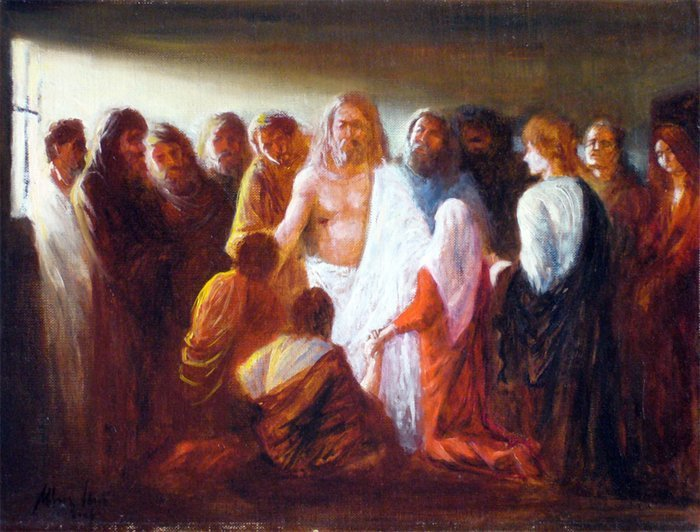 Jesus appears before the Disciples - by Imre Morocz (2009)