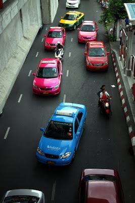 Taxis in Bangkok Thailand
