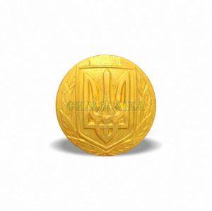 Гудзик Генеральський 22 мм великий золотистий  алюмінієвий