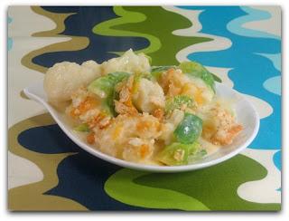 Cauliflower Brussels Sprouts Au Gratin
