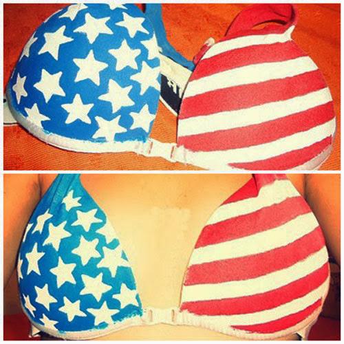 DIY - Soutien com bandeira dos Estados Unidos