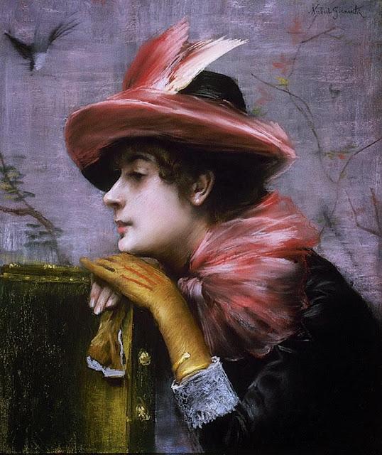 Norbert Goeneutte - A Portrait of Anna Goeneutte