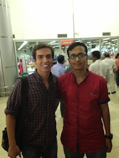 Meeting with another Duke student at the airport
