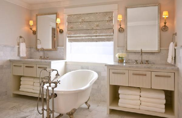 Nice Decesare Design Group Designed This Beautiful Cream And White Marble  Bathroom