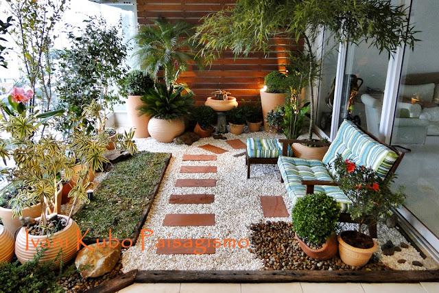 terraco jardins clinica:Ivani Kubo Paisagismo: Varanda – Paisagismo – Jardim em Terraço de