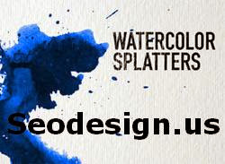 Watercolor Splatter Brushes