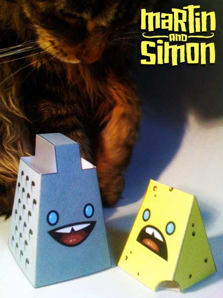 Cheese and Grater Paper Toy