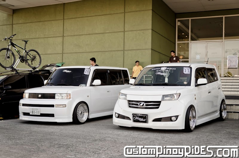 Slammed and Stanced Brothers Toyota bB1 and bB2 Custom Pinoy Rides Car Photography Manila Philippines Philip Aragones THE aSTIG pic1