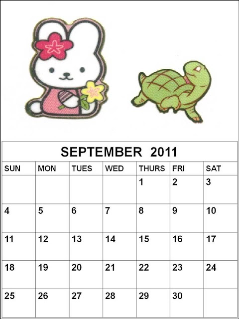 september 2011 printable calendar. Children Calendar September