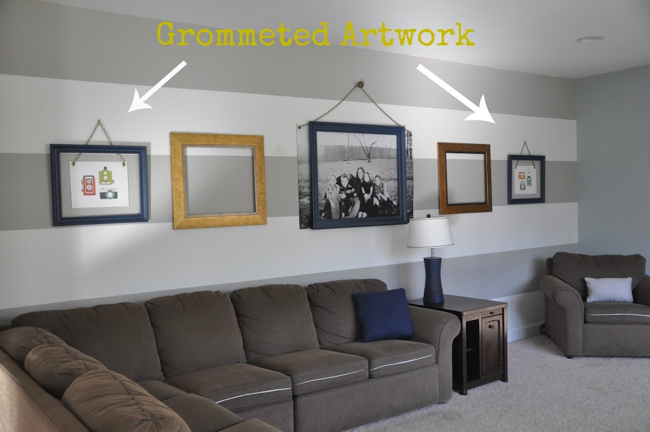 Family Room Art & How To Add Grommets!