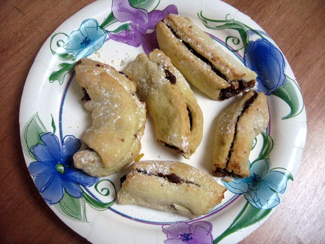 Cuccidati - Sicilian Fig Cookies - minus the icing and rainbow sprinkles