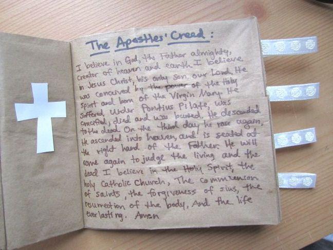 Catholic Craft For Kids Make A Rosary Book