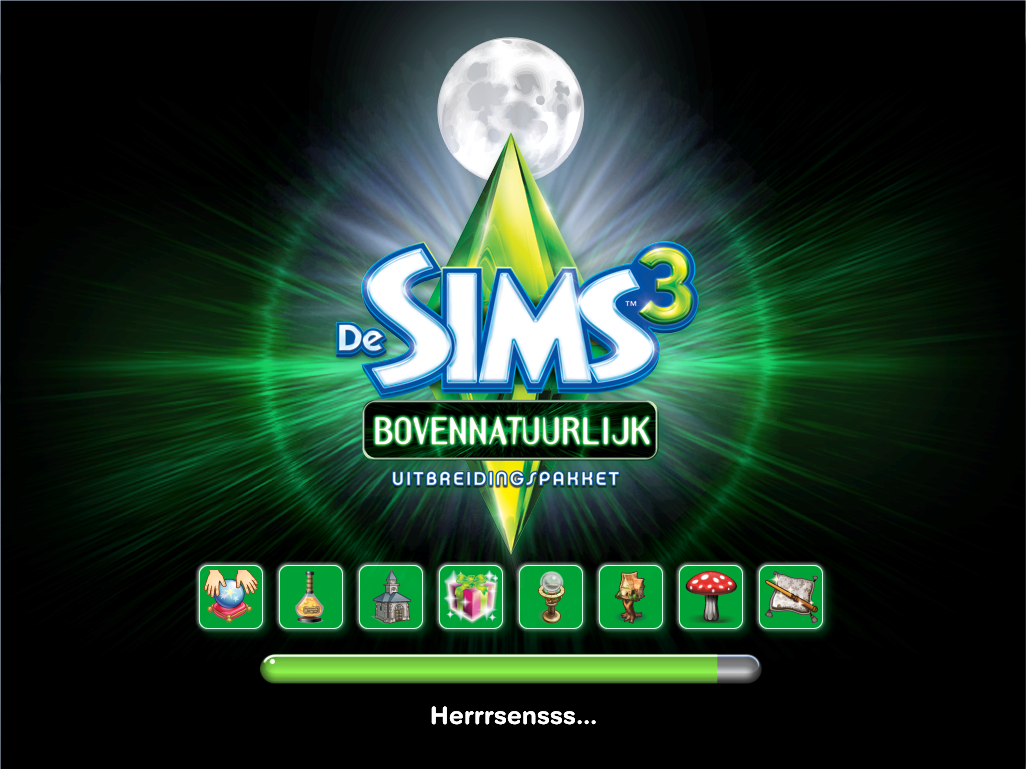 De Sims 3 Bovennatuurlijk laadscherm