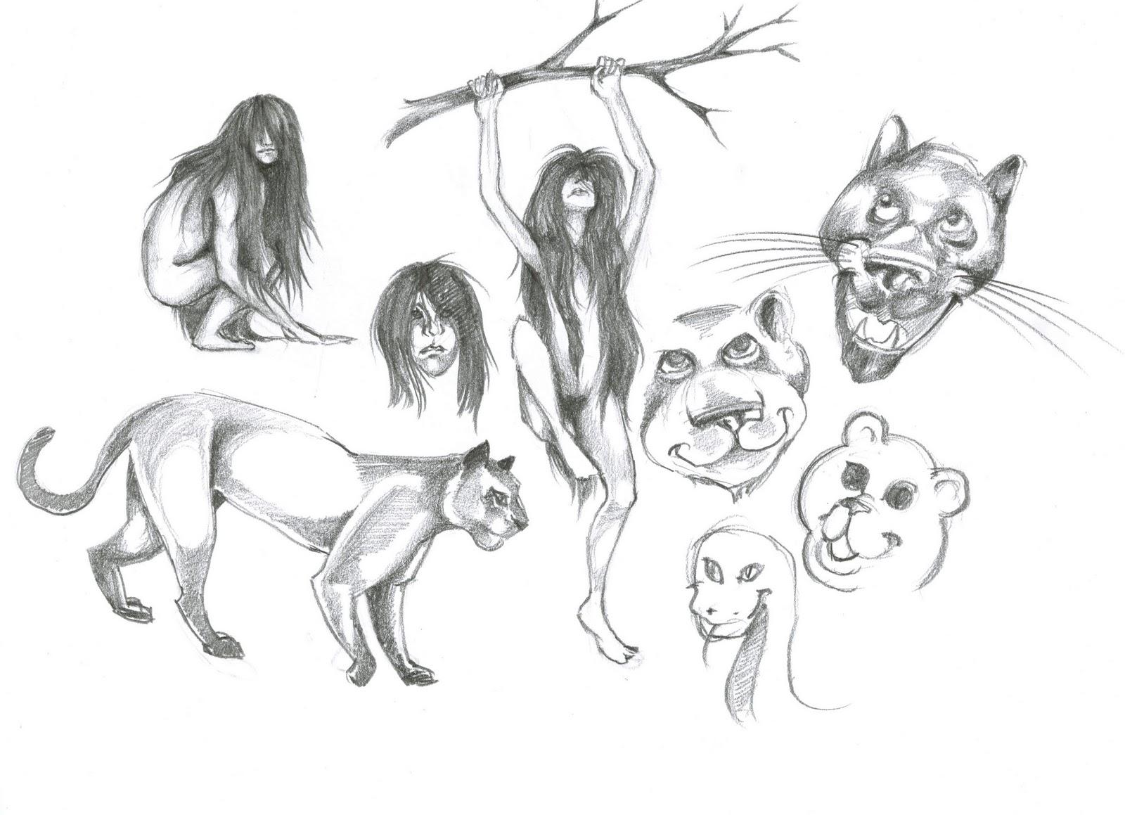 MICA 2011 - Spring - Concept Art More Jungle Book Sketches...