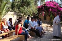 Rencontre avec le frère Olivier à Abu Gosh