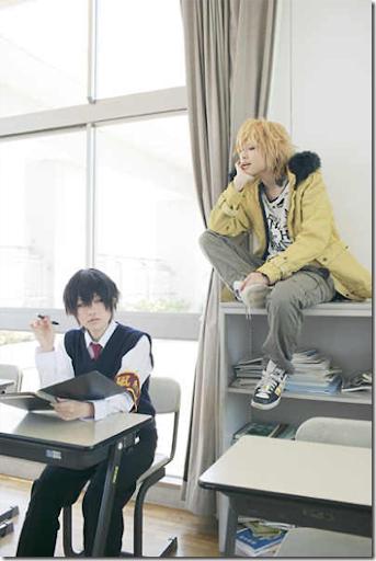 katekyo hitman reborn! cosplay - hibari kyoya and dino chiavarone