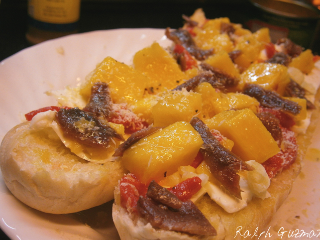 Mango and Kesong Puti Bruschetta - RatedRalph.com