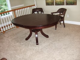 Montrose Round Table in Michigan Oak, 50″ diameter x 30″.