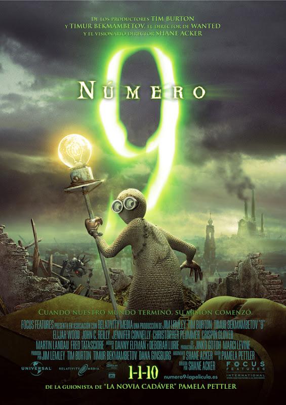 Número 9: Nueve (Shane Acker, 2.009)