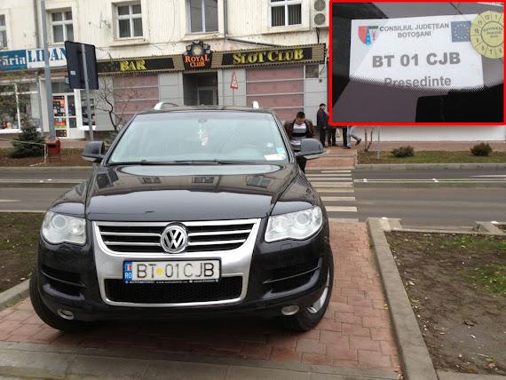 Presedinte CJ Botosani Turcanu parcare ilegala