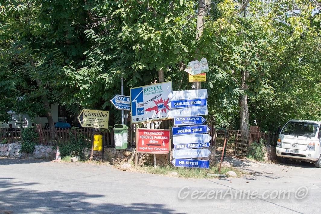Polonezköy Tabiat Parkı / Piknik Park yol ayrımı