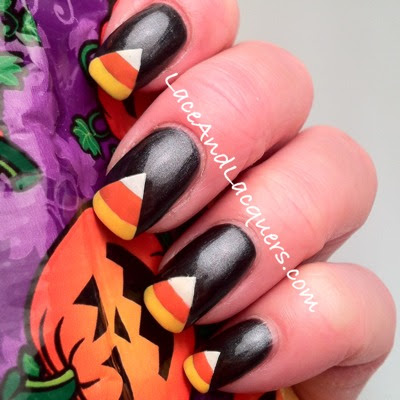 Lace And Lacquers Halloween Themed Nail Art