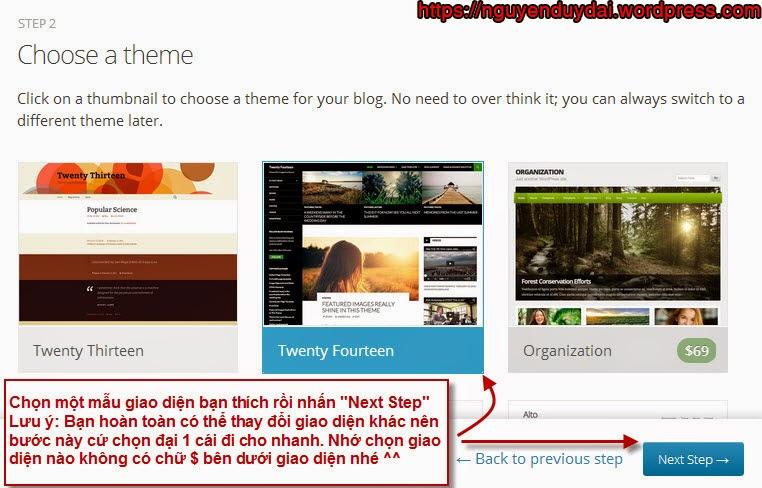 Hướng dẫn tạo blog wordpress