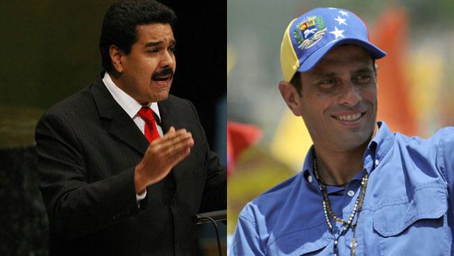 Capriles y Maduro elecciones