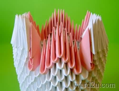 أوزه جميله مجسمه بالورده بطى الورق