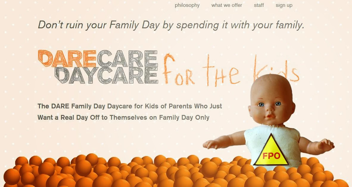 "Vancouver Ad Agency Opens ""DareCare DayCare"" For The Kids Just In Time For Family Day"