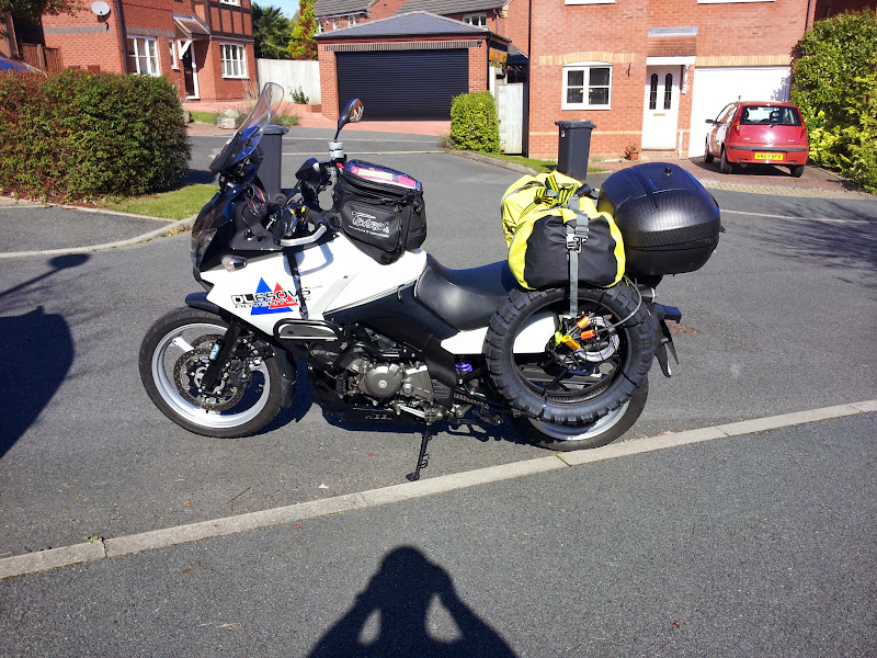 Locky's bike loaded up and ready to go!