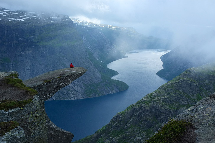 Trolltunga Norway (15 Scariest Hikes in the World).