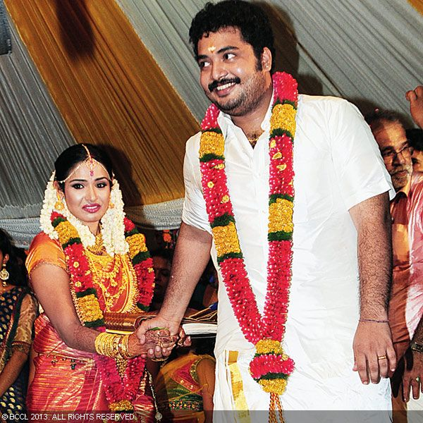 Actors Vinu Mohan and Vidyalakshmi's wedding ceremony at Changanaserry was a grand affair.