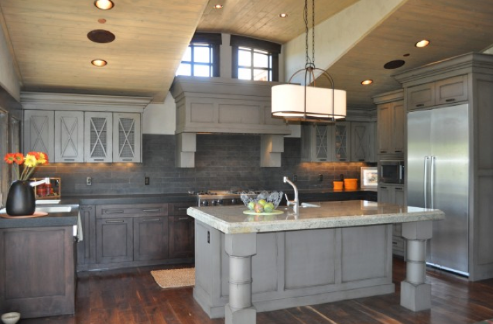 Veranda interiors gray stained cabinets some insperation